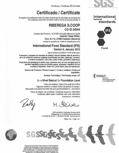 Certificación calidad - Dantza SGS 2 - Grupo AN