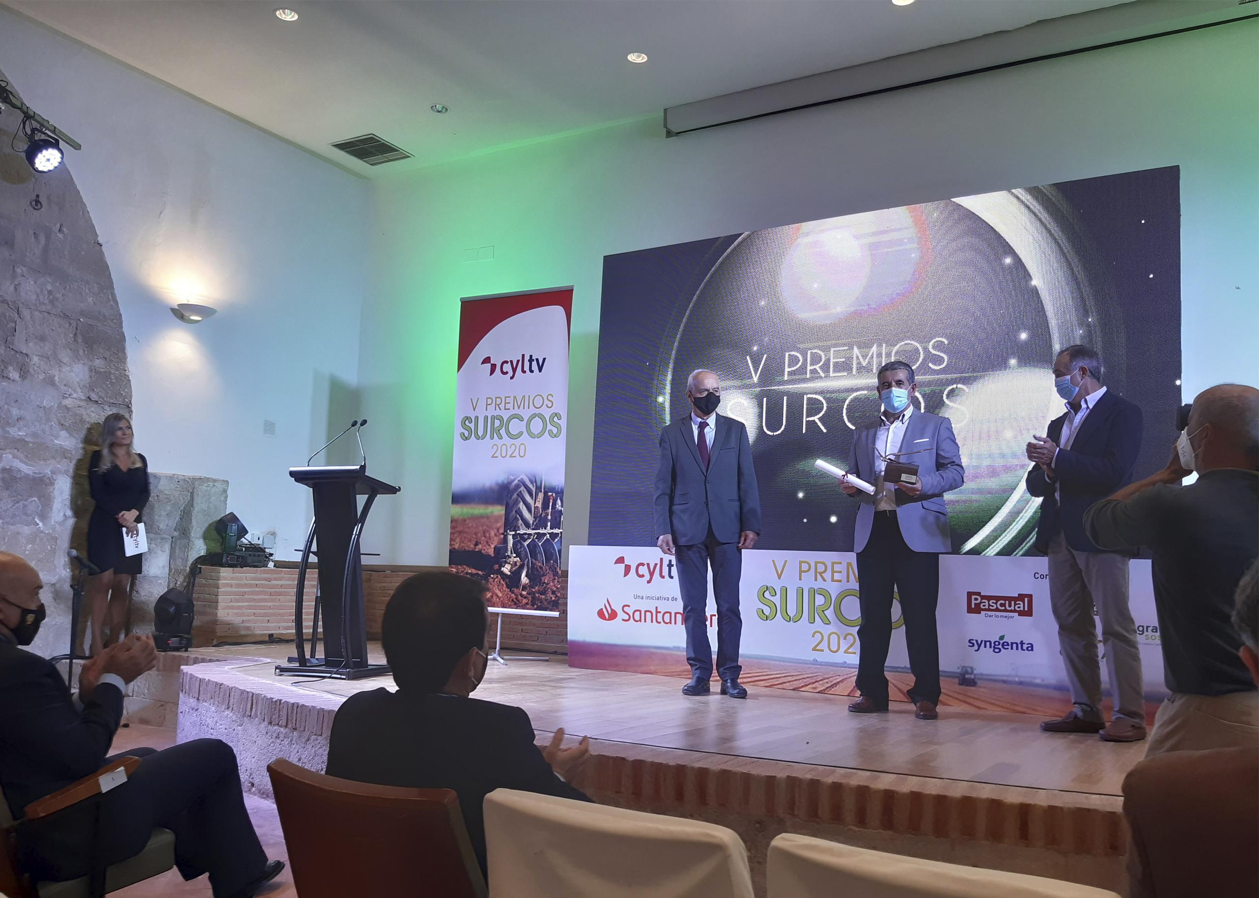 Entrega de premios en la gala de Surcos
