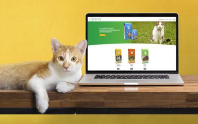CACECO lanza su nueva web de pienso para mascotas