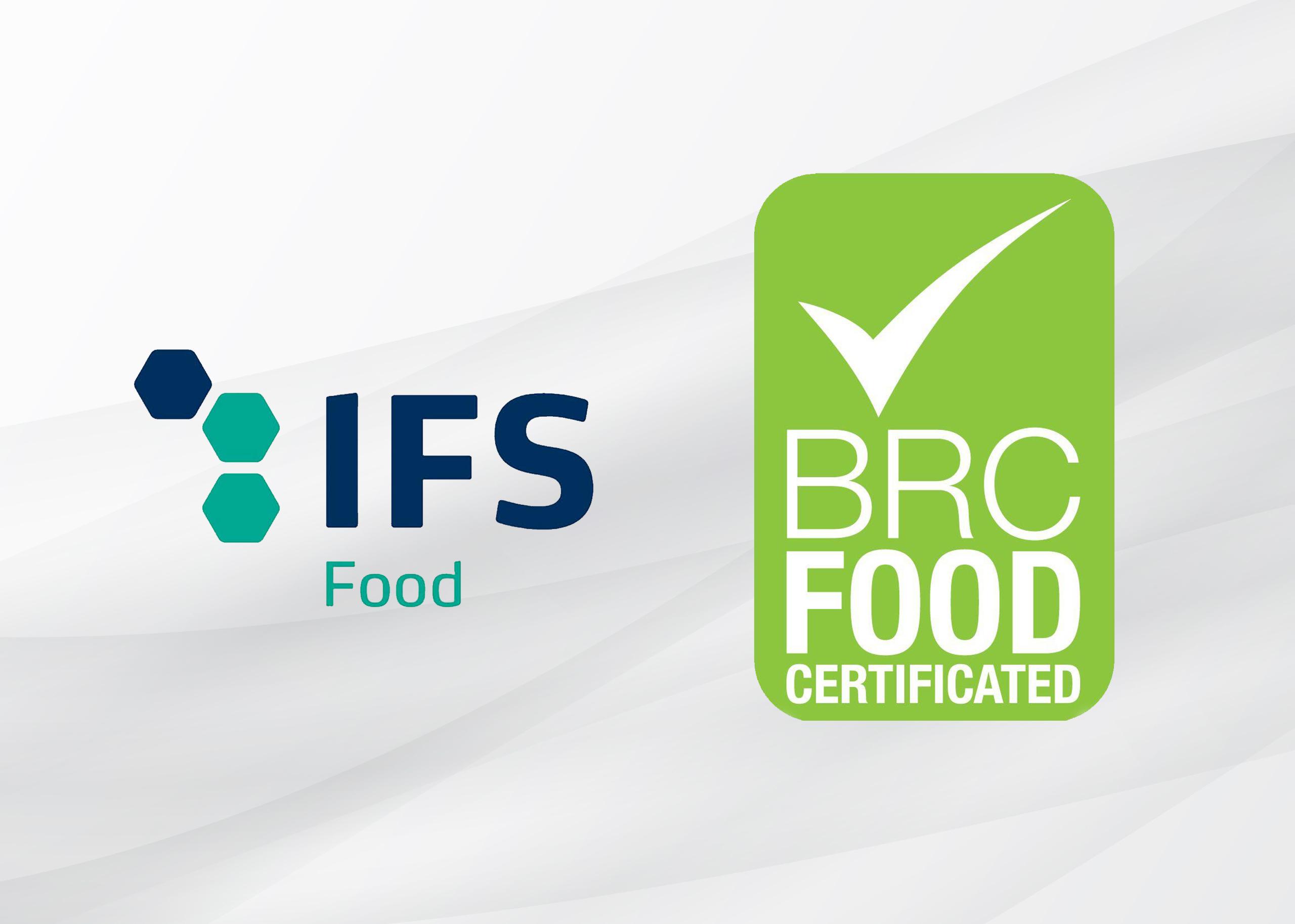 Sellos certificados IFS y BRC
